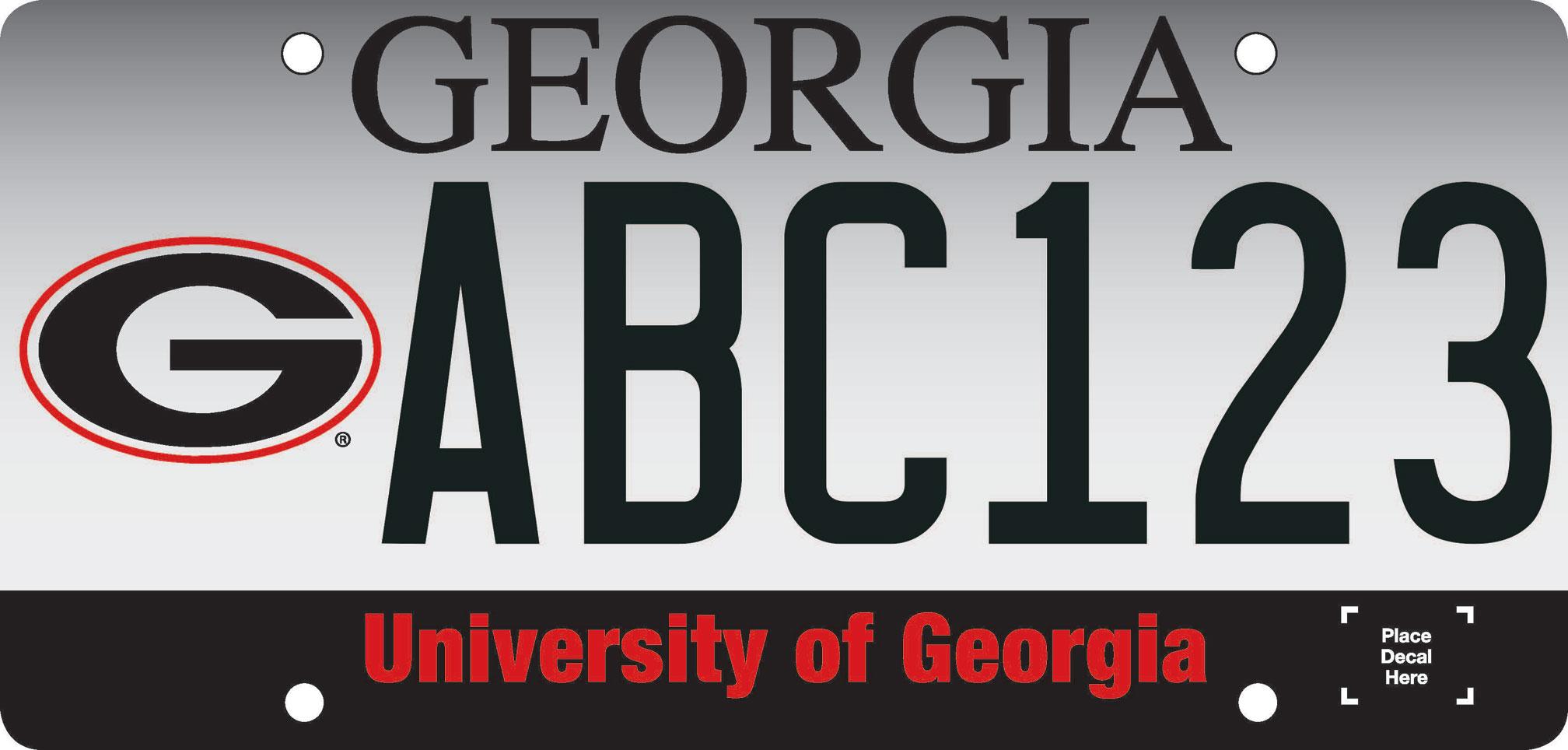 Georgia plate sample a tow for Atlanta department of motor vehicles